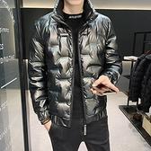 羽絨服男 男士羽絨服潮牌2021年冬季新款帥氣外套冬裝潮流短款加絨衣服【快速出貨八折特惠】