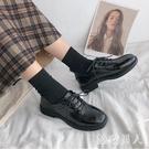 黑色小皮鞋女2020新款韓版ins潮流英式風學院方頭軟皮日系復古單鞋 HR364【極致男人】