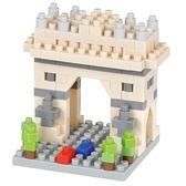 《 Nano Block 迷你積木 》【世界主題建築系列】NBC_340巴黎凱旋門 / JOYBUS玩具百貨