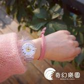 手錶-韓國日韓夏季簡約原宿風軟妹腕表可愛小清新雛菊透明學生女士手表-奇幻樂園