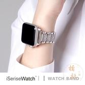 適用于applewatch蘋果手表iwatch錶帶金屬鏈式不銹鋼帶鉆【橘社小鎮】