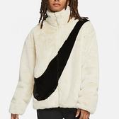 NIKE 外套 W FUR JACKET 白色 大勾 絨毛 保暖 百搭 外套 女 (布魯克林) CU6559-238
