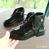 中大尺碼女童靴子新款男童單靴韓版寶寶短靴馬丁靴公主兒童鞋子潮 js8618『miss洛羽』