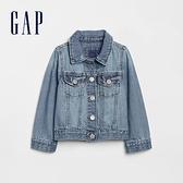 Gap女幼童 淺色水洗Logo鈕釦牛仔外套 618907-淺色水洗