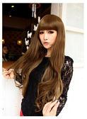 【WASSK】 W393 非主流甜美長捲髮微卷齊瀏海蓬鬆全頂式高溫卡絲 耐熱絲假髮
