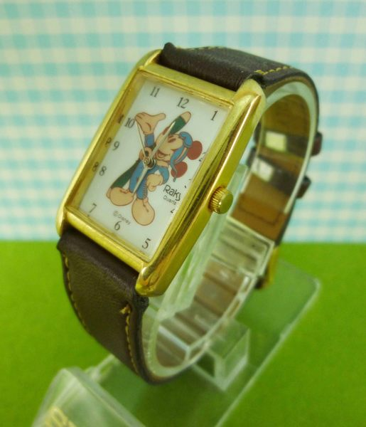 【震撼精品百貨】米奇/米妮_Micky Mouse~手錶-米奇全身RAKY圖案-咖啡色