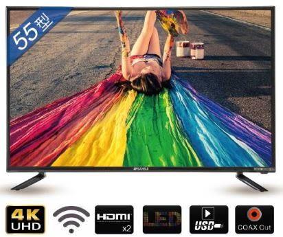 SANSUI山水 55吋 4K安卓智慧連網液晶電視 SLHD-5522