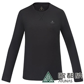 【南紡購物中心】【歐都納】男款抑菌保暖內著衣(黑)