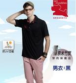 【瑪蒂斯】男款經典格紋領短袖抗UV POLO衫奈米竹炭排汗衣G9217 G9218(黑及棗紅)