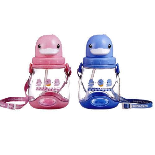 【奇買親子購物網】酷咕鴨KU.KU.可愛造型水壺450ML(藍/粉)