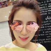 現貨-新款韓版時尚太陽眼鏡 墨鏡 復古炫彩墨鏡女反光太陽眼鏡190