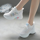 老爹鞋 增高老爹鞋女2020年新款夏季單鞋百搭透氣網面小白運動休閒鞋子女 夏季狂歡