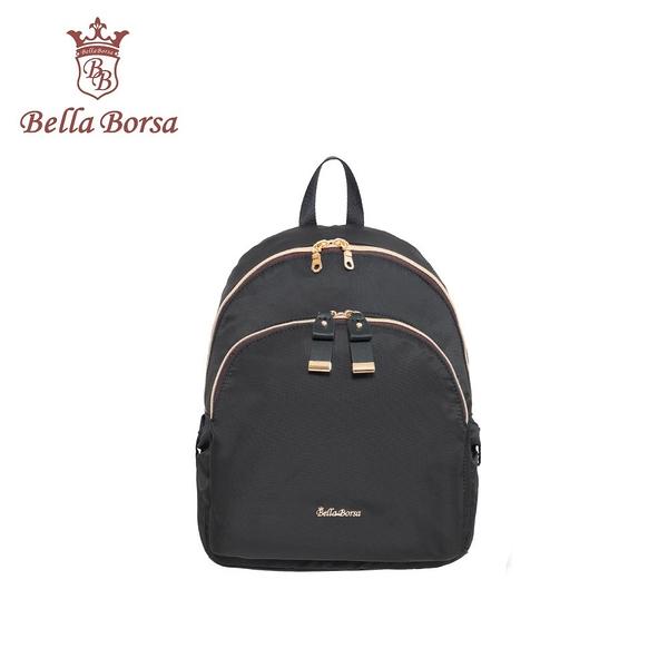 【Bella Borsa】(促銷價5折) Ribbon後背包小-黑色 BB19D001BK