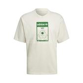 adidas 短袖T恤 Original Tee Mike 米白 綠 男女款 短T 大眼仔 麥克華斯基 運動休閒 【ACS】 GP3393