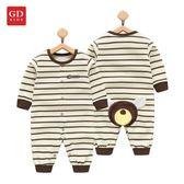 嬰兒連體衣服春秋女寶寶秋裝1歲男童0睡衣3個月新生兒6純棉12長袖   夢曼森居家