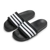 ADIDAS 拖鞋 ADILETTC COMFOR 黑 白 軟Q 軟底 男 (布魯克林) AP9971