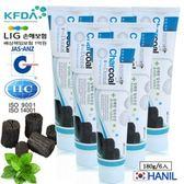 【韓一製藥】奈米竹炭固齒潔白牙膏/兒童適用180g 6入熱銷