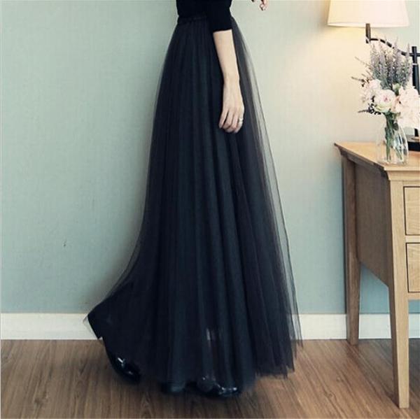 2020新款春夏季蕾絲網紗裙時尚半身裙中長款女裙子抖音百褶蓬蓬裙