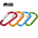 丹大戶外用品【RHINO】犀牛 鎖頭D型環1637 金/藍/湖綠/酒紅 7CM