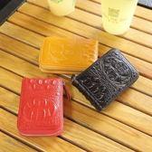 現貨 零錢包頭層牛皮新款風琴式卡包女式真皮卡夾男士多卡位卡片包拉鍊小錢包 9-04