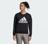 Adidas MH BADGE OF SPORT SWEATSHIRT 女款黑色長袖上衣-NO.EB3815