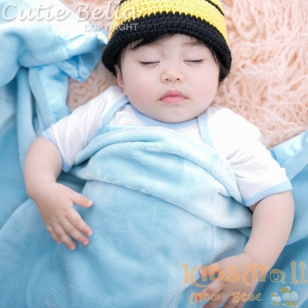 Cutie Bella 超柔軟頂級攜帶毯 - 藍色