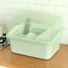 瀝水架 碗櫃塑料帶蓋廚房瀝水碗架碗碟餐具收納盒放碗架碗盆
