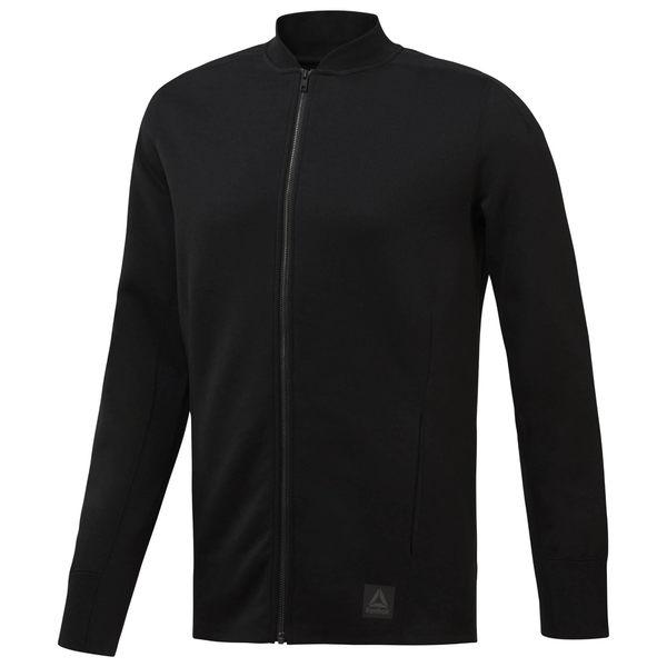 REEBOK TRAINING SUPPLY VARSITY 男裝 外套 針織 棒球外套 休閒 舒適 黑 【運動世界】CV8196
