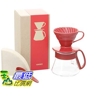 [美國直購] Hario V60 Color Coffee Dripper and Pot 咖啡壺 紅色白色可選