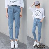 牛仔长裤高腰牛仔褲女夏季2018新款韓版顯瘦學生九分褲