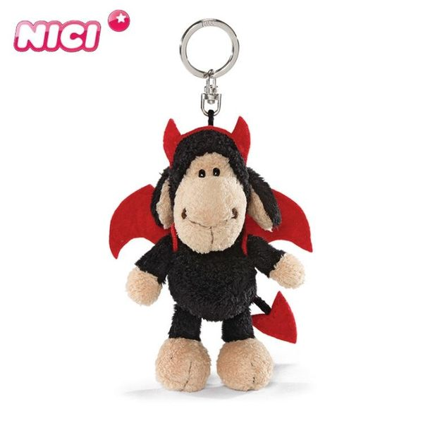 可愛掛飾 德國NICI 惡魔羊鑰匙扣可愛包包掛件生日禮物腰包掛件公仔扣【美物居家館】