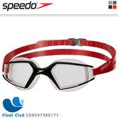 【Speedo】成人進階泳鏡Aquapulse Max 2 (黑/透明)