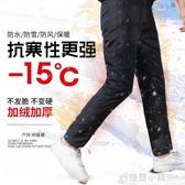 加絨加厚運動褲女保暖長褲冬季外穿直筒防水防雪防風透氣棉褲子潮 格蘭小舖