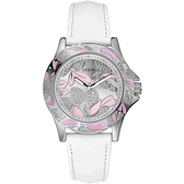 GUESS 花漾晶鑽氣質女腕錶-白-W95037L2