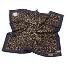DKNY滿版迷彩風帕領巾(深藍邊)989087