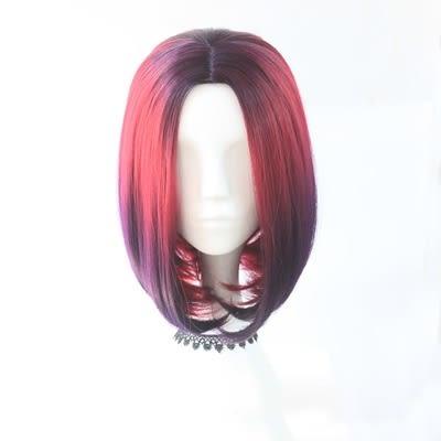 短假髮(整頂)-中分鮑伯頭漸層挑染短直髮女假髮2色73rr30【巴黎精品】
