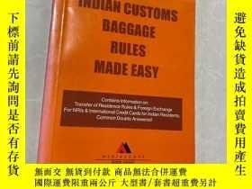 二手書博民逛書店indian罕見customs baggage rules made easy2000-2001Y164178