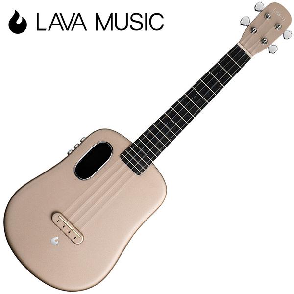LAVA U 拿火烏克麗麗-26吋/L2 mini /Free Boost/碳纖維材質/插電加震款/香檳金