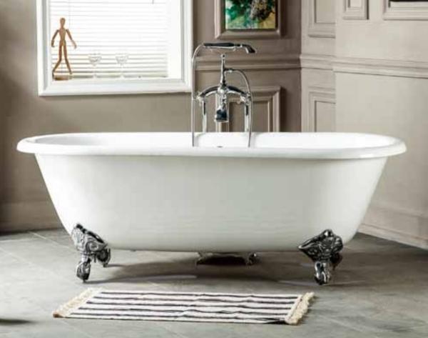 【麗室衛浴】BATHTUB WORLD 高級獨立式鑄鐵浴缸 H-524 1676*765*570mm