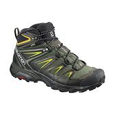 [Salomon] (男) X ULTRA 3 GTX 中筒登山鞋 凱斯灰/黑/硫磺綠 (L40133700)