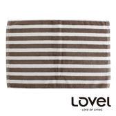 里和Riho LOVEL簡約條紋純棉浴墊/地墊(條紋咖) 腳踏墊 防滑墊