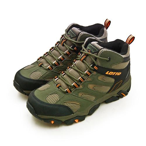 LIKA夢 LOTTO 專業多功能防潑水郊山戶外健行登山鞋 SABRE MID 2系列 綠棕黑 0555 男