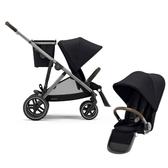 Cybex Gazelle S 雙人推車+第二座椅-黑色/雙胞胎推車/雙寶車