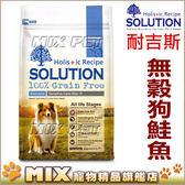 ◆MIX米克斯◆【買大送小 】耐吉斯無穀食譜《鮭魚/鹿肉/羊肉 16磅》送同款3磅狗飼料
