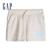 Gap女童棉質毛圈布鬆緊腰短褲539719-燕麥色