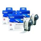 【三入組】Brother DK-22210 連續標籤帶 29mm 白底黑字 耐久型紙質 適用全系列之QL標籤機
