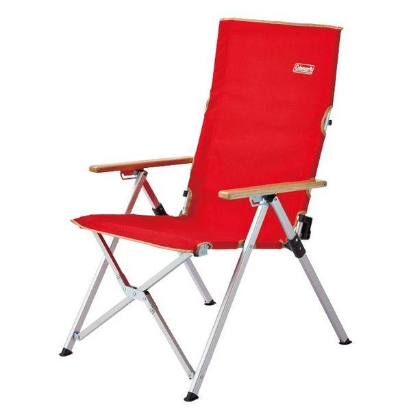 【早點名露營生活館】【Coleman LAY躺椅/紅 綠】