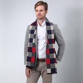 羊毛圍巾-格子色塊時尚百搭男女披肩4色73ph13【巴黎精品】