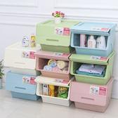 【團購world】多件優惠 新款斜口兩段式掀蓋收納箱 儲物箱 收納箱 上掀收納箱 收納整理箱