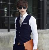西裝馬甲 西裝馬甲男韓版潮帥氣英倫馬夾男士西服背心伴郎團婚禮服裝職業裝 韓國時尚週 免運